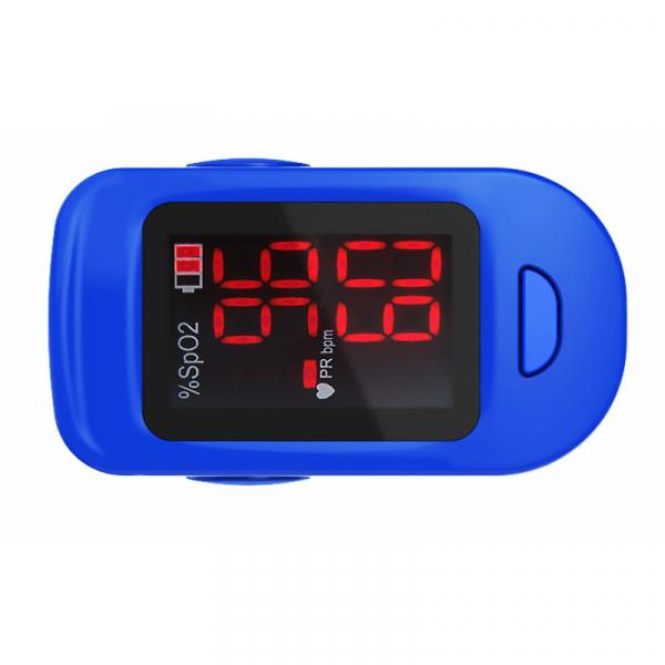 Pulsoximetru RedLine FS10C, alb-albastru, indica nivelul de saturatie a oxigenului, masoara rata pulsului 3