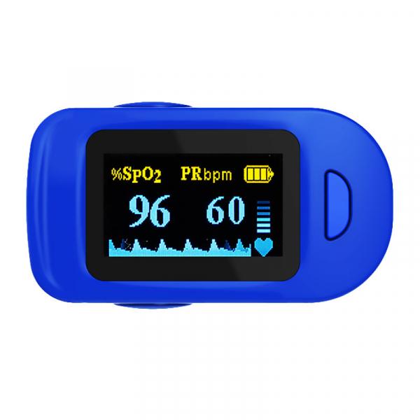 Pulsoximetru RedLine FS20C, alb-albastru, indica nivelul de saturatie a oxigenului, masoara rata pulsului [2]