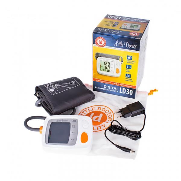Tensiometru electronic de brat Little Doctor LD 30, Validat clinic BHS, adaptor inclus, Afisaj LCD, Memorare 60 de valori, Algoritm Fuzzy, Detectare Aritmie 2