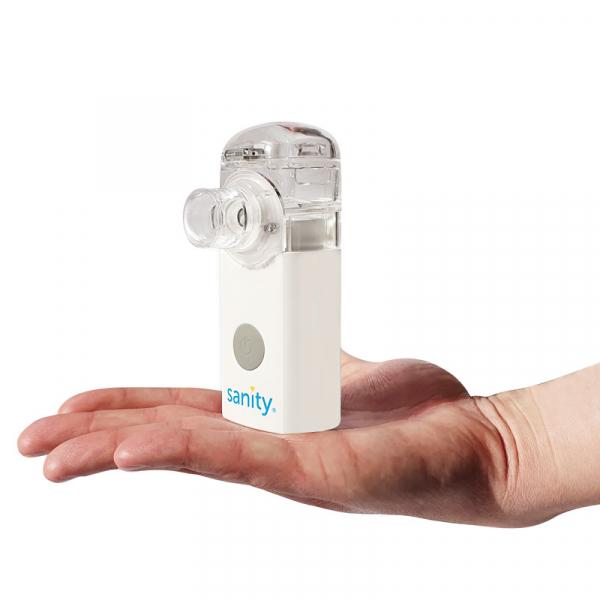Aparat aerosoli Sanity Silent Mesh AP 2717 PRO, cu tehnologie mesh, portabil si silentios, dimensiuni reduse, alimentator inclus 2