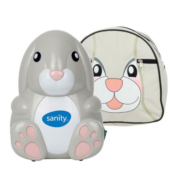 Aparat aerosoli cu compresor Sanity Baby Inhaler, Suzeta inhalator inclusa, Ideal pentru cadouri 0