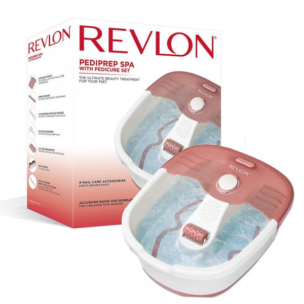 Aparat de hidromasaj pentru picioare REVLON Foot Spa plus set pentru pedichiura 2