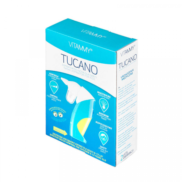 Aspirator nazal electric VITAMMY Tucano, 2 varfuri de silicon, pentru copii 0 - 12 ani 3