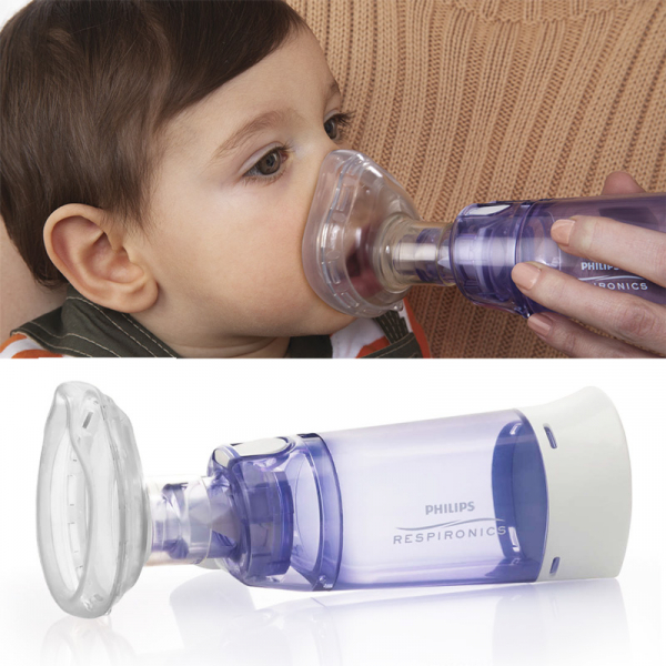 Camera de inhalare Optichamber Diamond, Philips Respironics, cu masca 0-18 luni 2