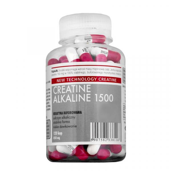 Creatina Megabol CREATINE ALKALINE 1500, 120 capsule, creatina monohidrat cu Ph ridicat, nu este necesara faza de incarcare 0