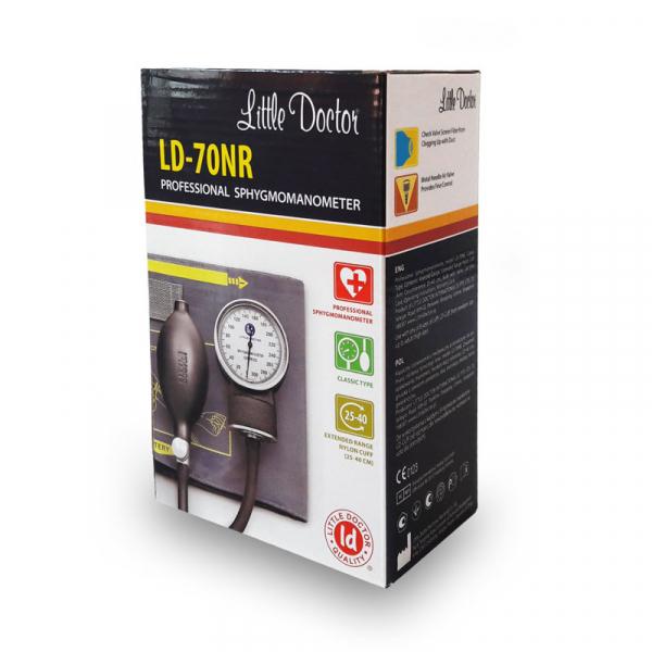 Tensiometru mecanic Little Doctor LD 70NR, profesional, manseta LARGE 25 - 40 cm, fara stetoscop, manometru din metal 3