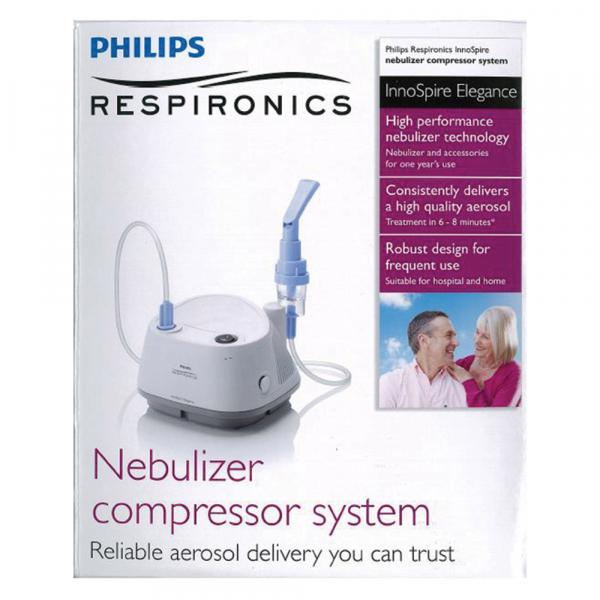 Aparat aerosoli cu compresor Philips Respironics InnoSpire Elegance,  MMAD 2.90 μm, Operare Continua, Sistem Active Venturi 2