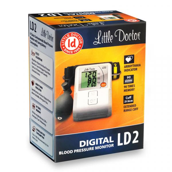 Tensiometru de brat Little Doctor LD2, semiautomat, afisaj LCD, memorare 90 de valori, alb 4