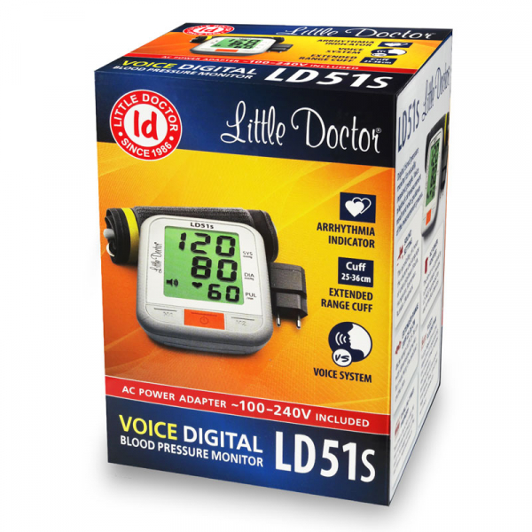 Tensiometru de brat Little Doctor LD 51S, anuntare vocala limba romana, adaptor inclus, validat clinic 4