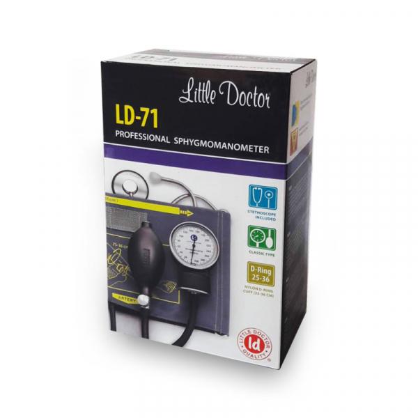 Tensiometru mecanic Little Doctor LD 71 profesional, stetoscop inclus, manometru din metal, husa de transport 4