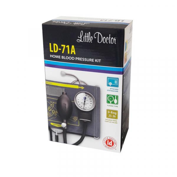 Tensiometru mecanic Little Doctor LD 71A, profesional, stetoscop atasat, manometru din metal 1