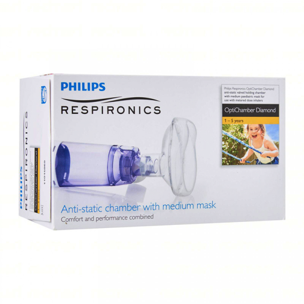 Camera de inhalare Optichamber Diamond, Philips Respironics, cu masca 1-5 ani 1