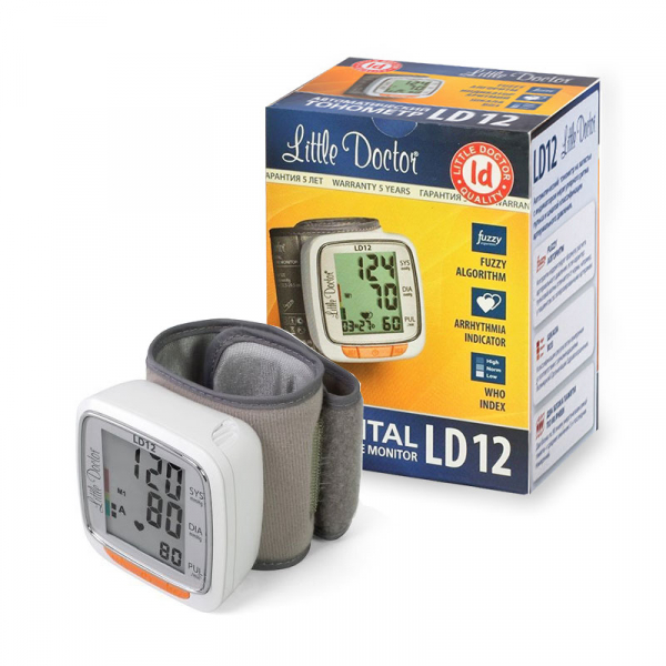 Tensiometru electronic de incheietura Little Doctor LD 12, detectare aritmie, indicator WHO, afisare data si ora 2