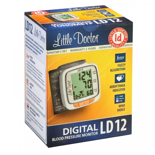 Tensiometru electronic de incheietura Little Doctor LD 12, detectare aritmie, indicator WHO, afisare data si ora [1]