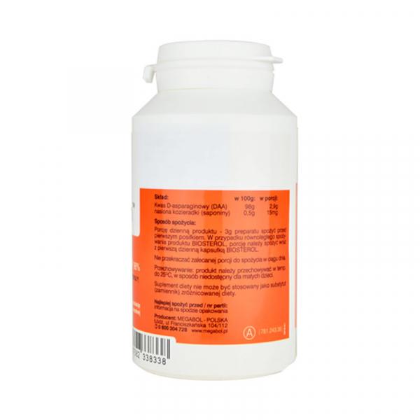 Stimulent testosteron Megabol DAA-stin 90 g, anabolizant pentru cresterea masei musculare 1