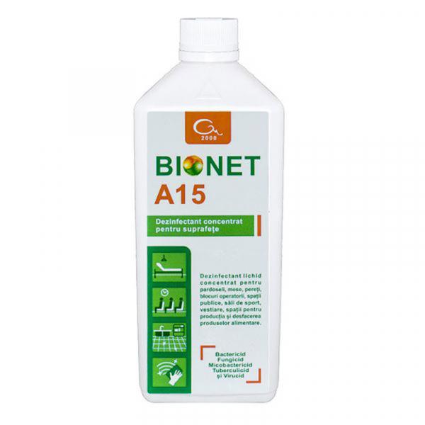 Dezinfectant concentrat pentru suprafete Bionet A15, 1L 0