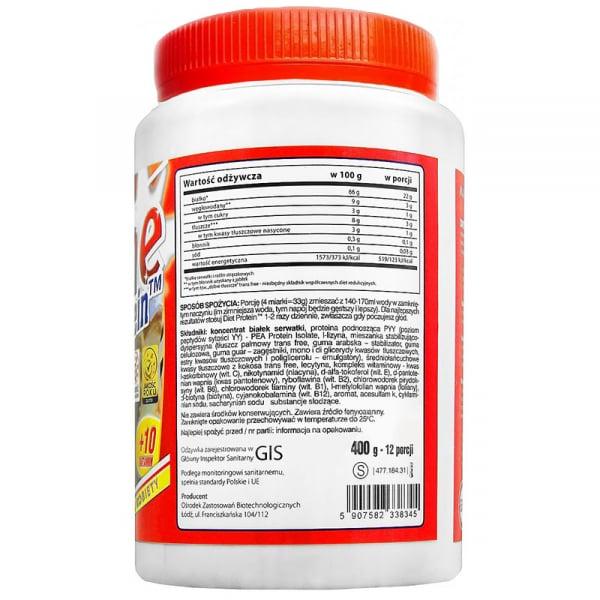 Proteine pentru slabit Megabol Diet Protein Slim Line, vitamine si fibre proteice cu digestie lenta, satietate pana la 6 ore 1