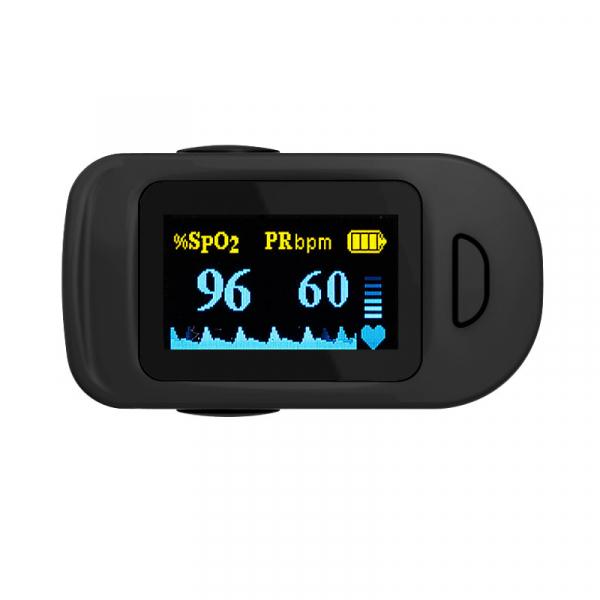 Pulsoximetru RedLine FS20C, negru,  indica nivelul de saturatie a oxigenului, masoara rata pulsului 1