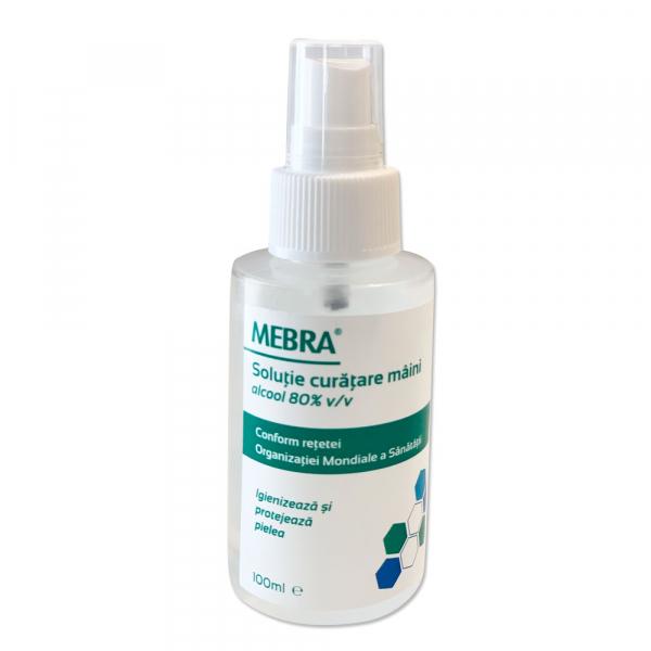 Igienizant maini, contine alcool 80%, peroxid de hidrogen, glicerina si apa, 100ml, cu pompita 0