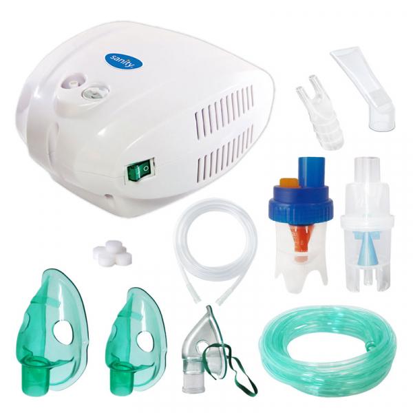 Aparat aerosoli cu compresor Sanity Alergia Stop Inhaler PRO, MMAD 3 µm, 3 masti (adulti, copii si bebelusi) 0