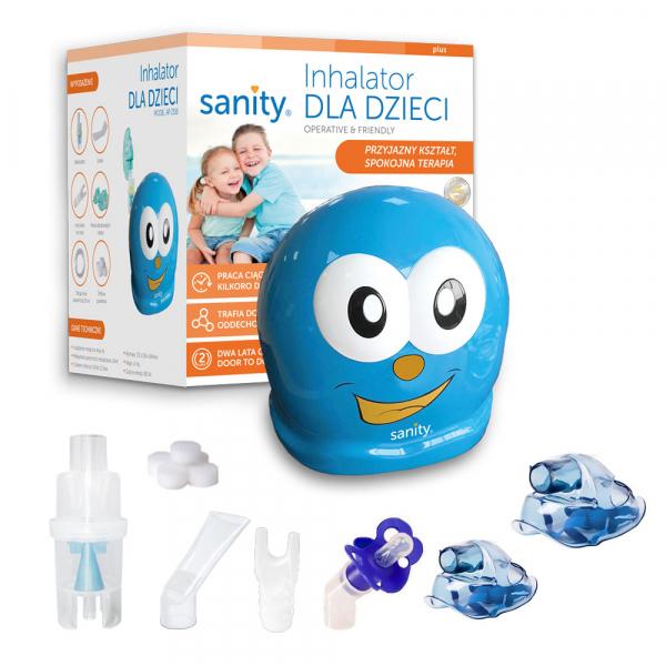 Aparat aerosoli Sanity Inhaler Kids, nebulizator cu compresor pentru copii 1