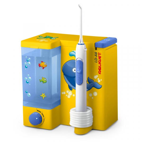 Irigator bucal Little Doctor Aquajet LD A8 pentru adulti si copii, profesional, 1200 impulsuri/min, 4 duze incluse, galben 0