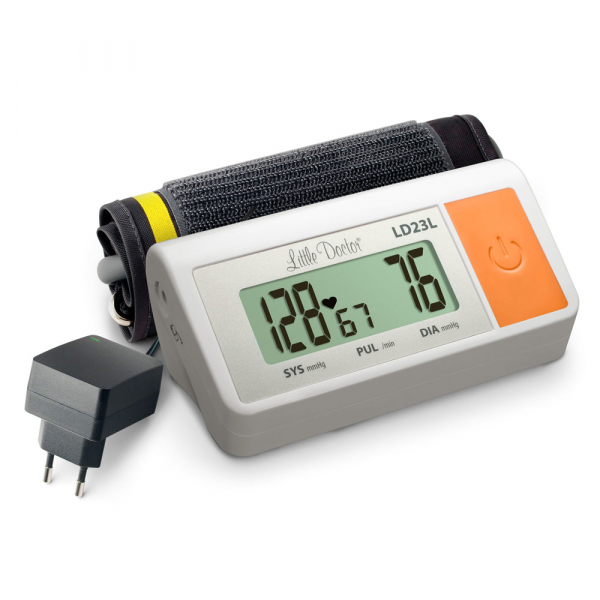 Tensiometru electronic de brat Little Doctor LD 23L, manseta 36-43 cm, adaptor priza inclus, Alb 0