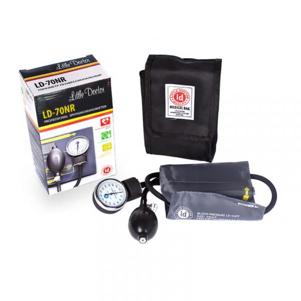Tensiometru mecanic Little Doctor LD 70NR, profesional, manseta LARGE 25 - 40 cm, fara stetoscop, manometru din metal 2