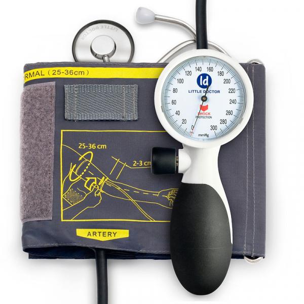 Tensiometru mecanic de brat Little Doctor LD 91, profesional, rezistent la socuri, stetoscop inclus 0