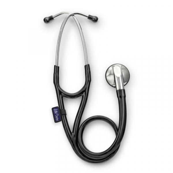 Stetoscop Little Doctor LD Cardio, profesional, 3 seturi de olive auriculare, o diafragma de schimb, placuta de identificare, Negru/inox 0