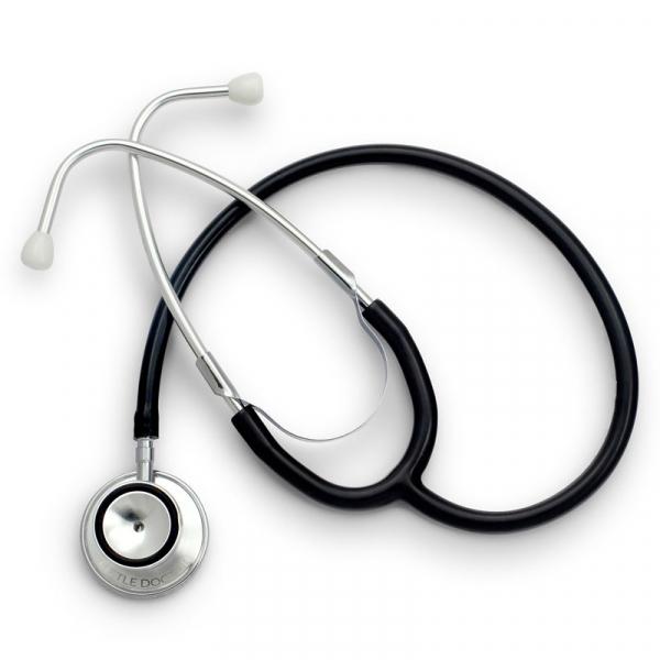 Stetoscop Little Doctor LD Prof I, stetoscop metalic utilizabil pe ambele parti, diafragma mare, Negru/Inox 1