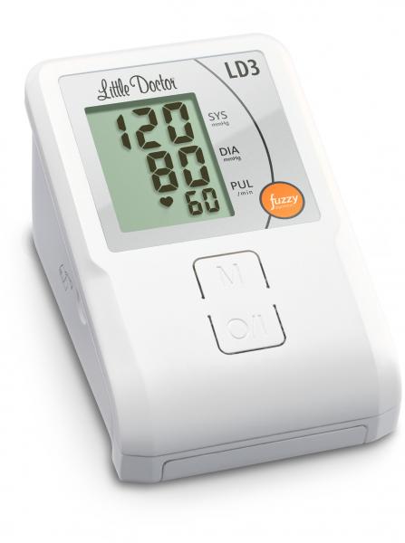 Tensiometru electronic de brat Little Doctor LD3, Afisaj LCD, Memorare 90 de valori, Alb 2