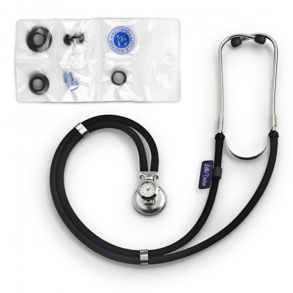 Stetoscop Little Doctor LD SteTime cu ceas, 2 tuburi, lungime tub 56cm, Negru/Inox [1]