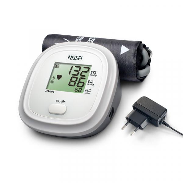 Tensiometru electronic de brat Nissei DS 10a, Afisaj LCD, detectie body motion, Alimentator inclus, Alb 0