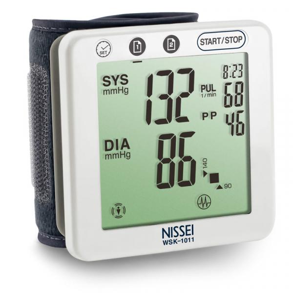 Tensiometru electronic de incheietura Nissei WSK 1011, memorare 2 x 60 de valori, clasificare OMS, detectarea aritmiei 1