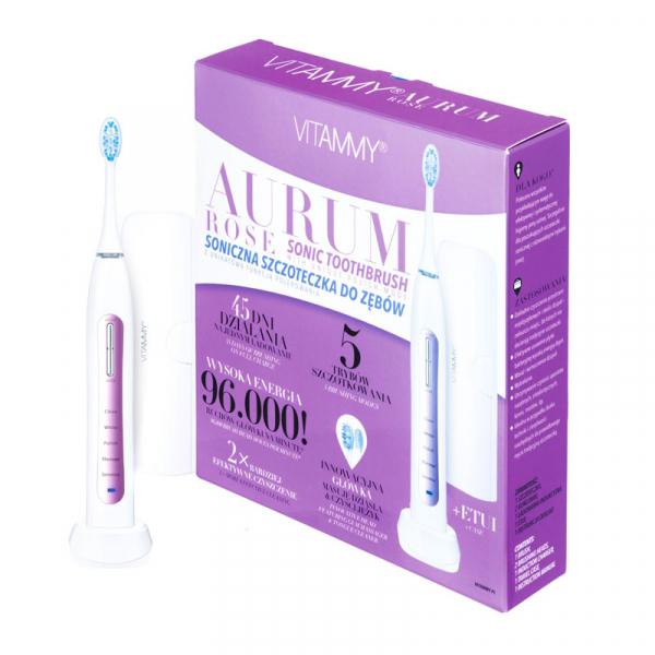 Periuta de dinti electrica VITAMMY Aurum Rose, 96000 vibratii/min, 5 moduri de periaj 0