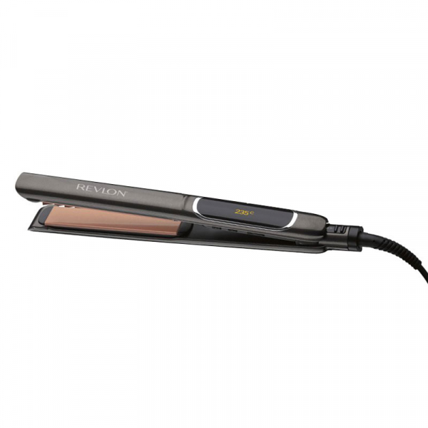 Placa de indreptat parul REVLON Salon Straight Copper Smooth RVST2175E, afisaj LCD 1