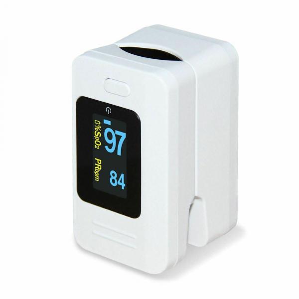 Pulsoximetru Contec CMS50D4, indica nivelul de saturatie a oxigenului din sange, masoara rata pulsului, Alb 0