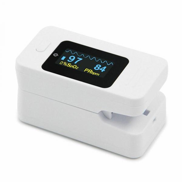 Pulsoximetru Contec CMS50D4, indica nivelul de saturatie a oxigenului din sange, masoara rata pulsului, Alb 2