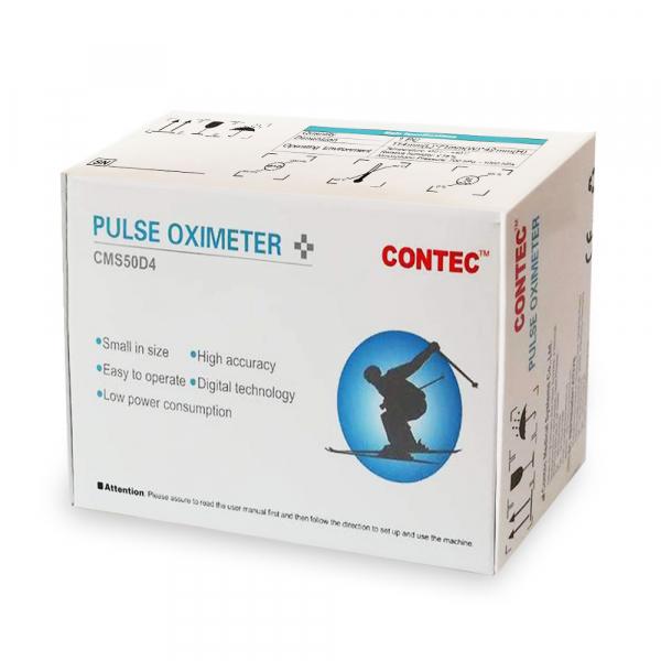 Pulsoximetru Contec CMS50D4, indica nivelul de saturatie a oxigenului din sange, masoara rata pulsului, Alb 4