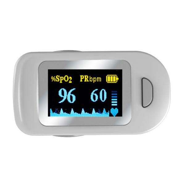 Pulsoximetru RedLine FS20C, alb, indica nivelul de saturatie a oxigenului, masoara rata pulsului 1
