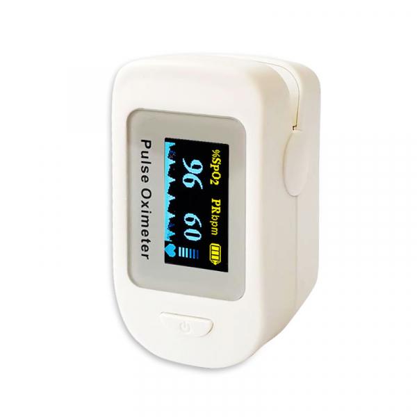 Pulsoximetru RedLine FS20C, alb, indica nivelul de saturatie a oxigenului, masoara rata pulsului 0