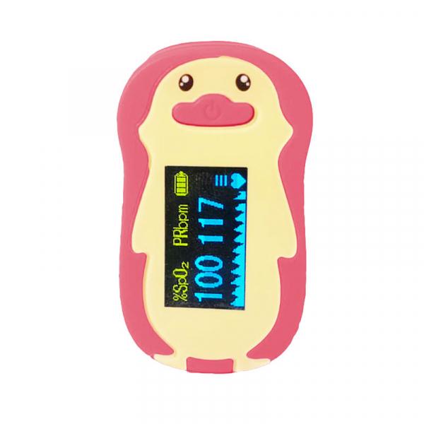 Pulsoximetru RedLine FS20P, pentru copii 2-12 ani, roz, Indica nivelul de saturatie a oxigenului din sange, Masoara rata pulsului 1