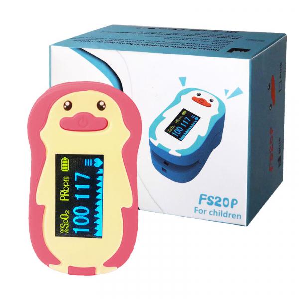 Pulsoximetru RedLine FS20P, pentru copii 2-12 ani, roz, Indica nivelul de saturatie a oxigenului din sange, Masoara rata pulsului [2]