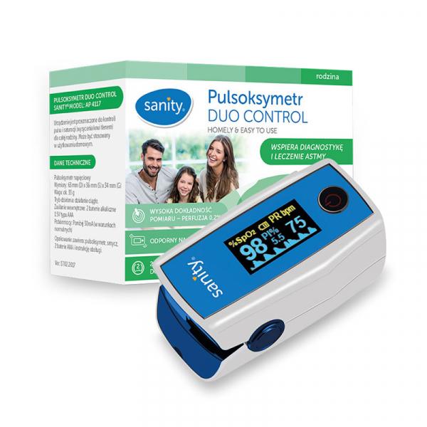 Pulsoximetru Sanity Duo Control, copii 3 ani + si adulti, masoara nivelul de saturatie a oxigenului si rata pulsului, Ecran OLED [1]