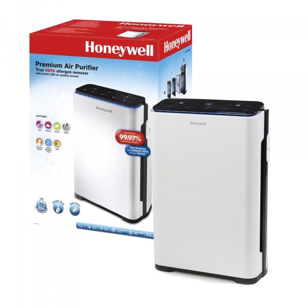 Purificator de aer Honeywell HPA710 True cu filtru HEPA, 5 moduri de purificare, cronometru electronic, Alb 1