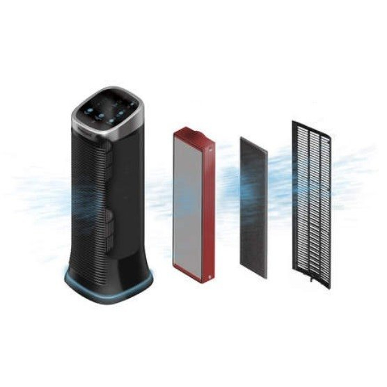 Purificator de aer Honeywell Air Genius 5, filtru reutilizabil, 5 moduri de filtrare, Negru 2