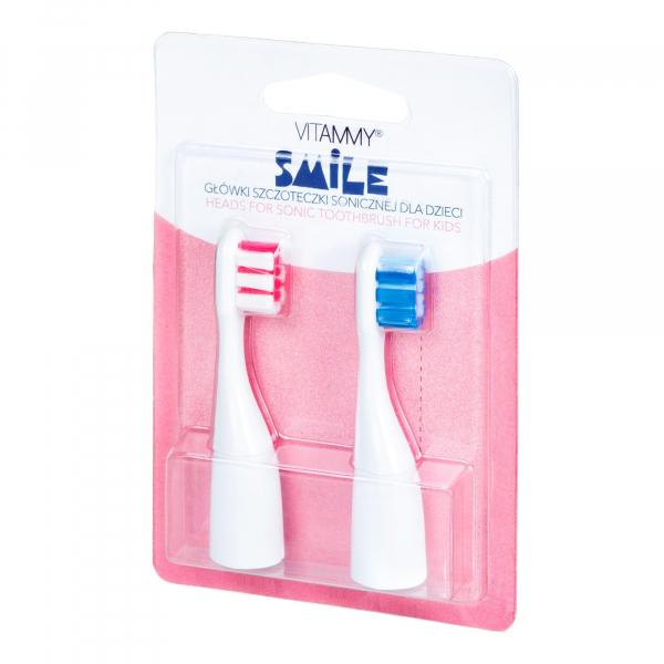 Set 2 rezerve periuta de dinti VITAMMY Smile, Albastru-Roz 0