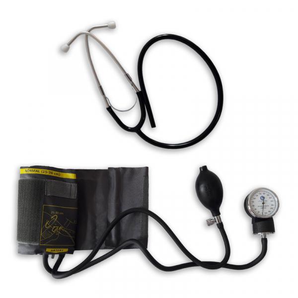 Tensiometru mecanic Little Doctor LD 71A, profesional, stetoscop atasat, manometru din metal 4