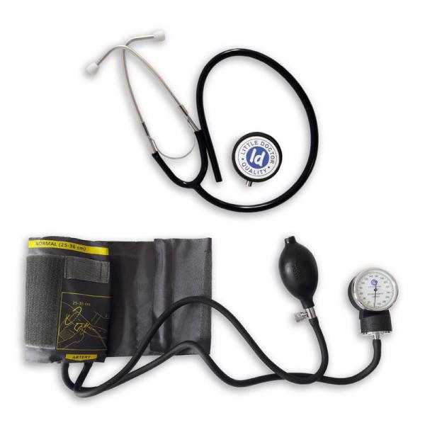 Tensiometru mecanic Little Doctor LD 71 profesional, stetoscop inclus, manometru din metal, husa de transport 2